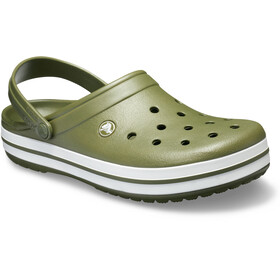 Crocs Crocband Clogs Unisex Army Green/White